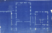 Architect's drawing of Stetson Hall, 1923