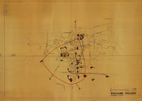 Architects' map of Williams College fraternity houses