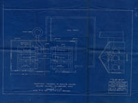 Architect's drawing of Boiler House alterations, 1927