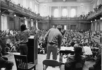 Students organizing in Chapin Hall to protest the Vietnam War, 1970