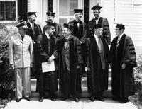 Faculty in Commencement robes, 1959