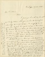 Number 73: Letter from H.W. Dwight on December 27, 1826