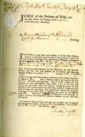Number 11: Notice of Guardianship from December 20, 1750