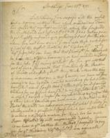 Number 14: Letter from Solomon Williams on June 25, 1751