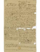 Number 43: Autograph Letter from July 21, 1755