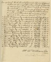 Number 56: Voucher for the Justices time spent at the Court of General Sessions of Peace, May 23, 1771