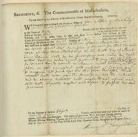 Number 61: Legal Document to the Sheriff of Berkshire County from April 23, 1784