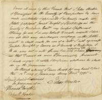Number 69: Power of Attorney from January 12, 1795