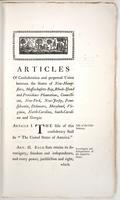 Articles of Confederation and Perpetual Union Between the States