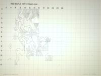 1974 Hand-Contoured Map Series: Red Maple 1971-2 Basal Area