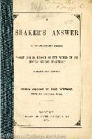 """A Shaker's answer to the oft-repeated question: """"What would become of the world if all should become Shakers?"""""""