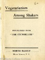 """""""Vegetarianism among Shakers"""" booklet"""