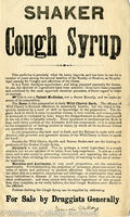"""""""Shaker cough syrup"""" flier"""
