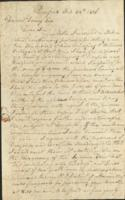 John Williams to Daniel Dewey, discussing the possible sale of a township