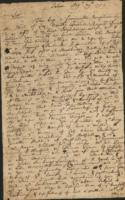 Elisha Williams letter to Sir William Pepperell