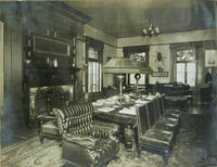 Study in the Sigma Phi fraternity house, 1913