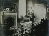 Study in the Sigma Phi fraternity house, 1909