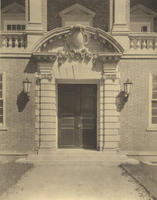 Stetson Library: View of the West Entrance, 1922