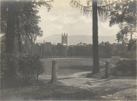 View of Williams College campus from the northwest, 1909