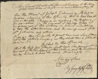 Order to pay Joseph Johnson, a Mohegan, for removing Indian tribes from the colony