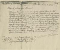 Petition of William Chidester for guns for the blockhouse at West Hoosuck