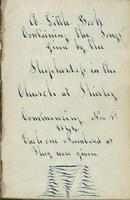 "Anonymous Hymnal containing songs ""Given by the Shepherdess in the Church at Shirley..."""