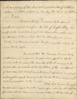 Resolutions relating to confirmation of the title of Joseph Foxcroft to land in Sullivan Co., Maine
