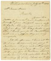 Letter of Ebenezer Fitch (1756-1833) to Isaac Beers