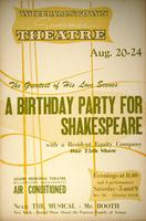 A Birthday Party for Shakespeare